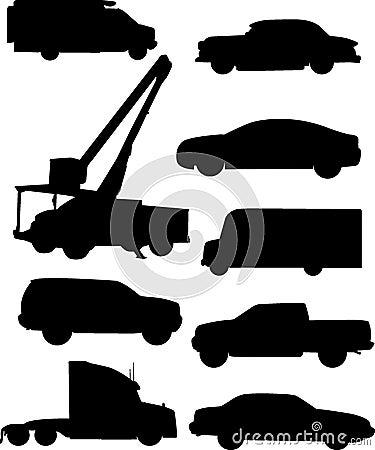 Automobile Silhouettes