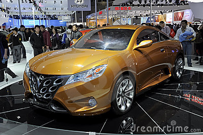 Automobile sportiva della stella di Geely Fotografia Stock Editoriale