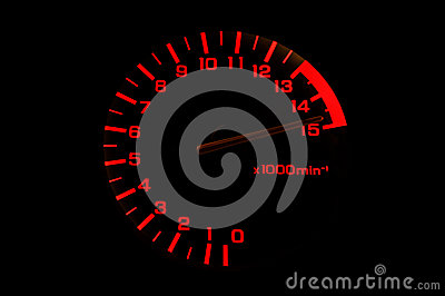 Automobile tachometer even faster