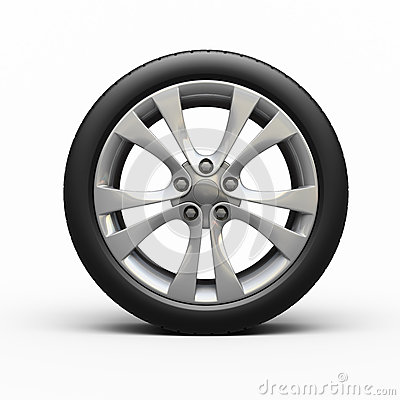 Automobile tires and wheel