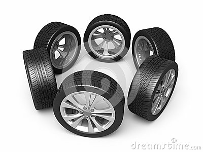 Automobile tires and wheels