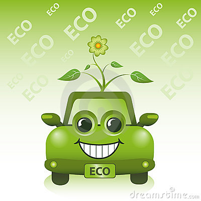 Automobile verde di Eco