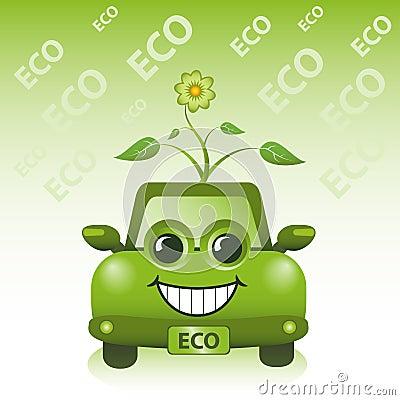 Automobile verde di Eco
