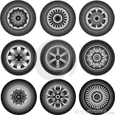 Automobile wheels 01