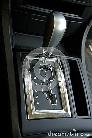 Automobiles - Car Gear Shift Close Up