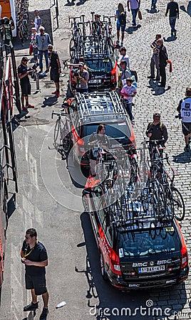 Automobili della squadra di BMC Fotografia Stock Editoriale