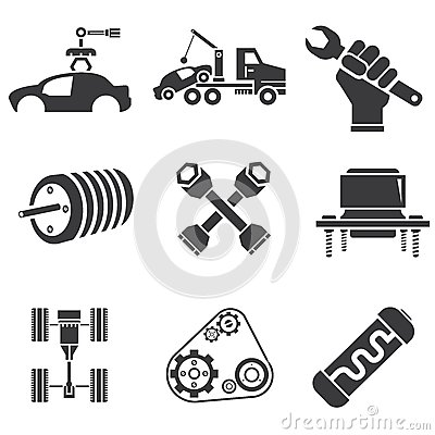 Automotive icons royalty free stock photography image for Auto p garage roussillon