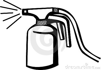 automotive paint sprayer gun vector illustration