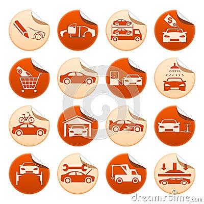 Automotive stickers