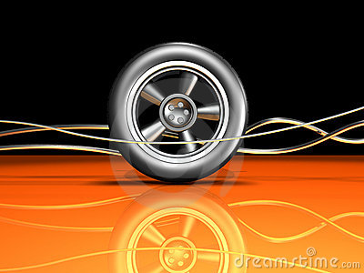 Automotive Wheel and Wires