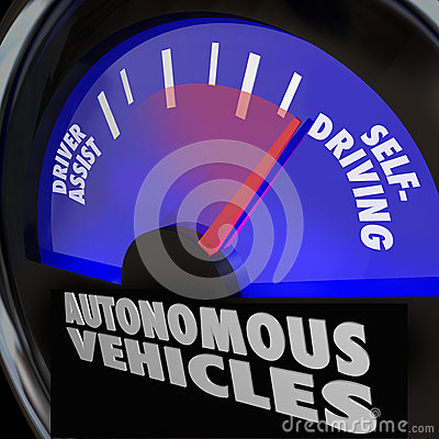 Free Autonomous Vehicles Self Driving Cars Gauge Royalty Free Stock Photography - 32772227