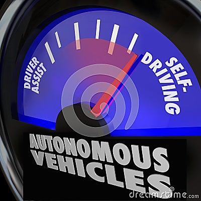 Autonomous Vehicles Self Driving Cars Gauge