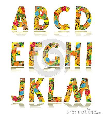 Free Autumn Alphabet Set Letters A - M Royalty Free Stock Photos - 14715748