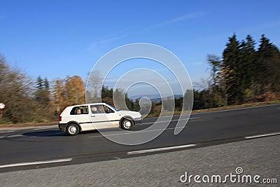 Autumn asphalt mountains road