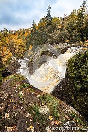 Free Autumn At Gabbro Falls In The Upper Peninsula Of Michigan Stock Image - 96697681