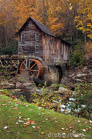 Free Autumn At The Grist Mill Stock Images - 1434154