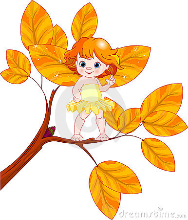 Autumn baby fairy