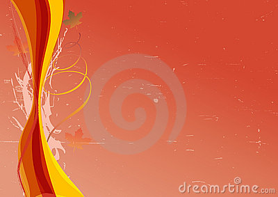 Autumn background with colorful waves