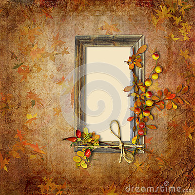 Autumn background with frame