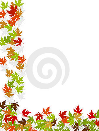 Autumn background frame leafs