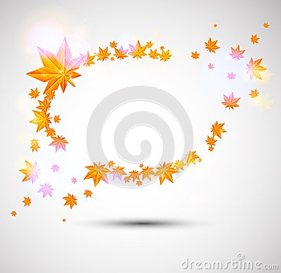 Autumn background with great color lights
