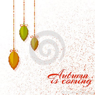 Free Autumn Background With Leafs. Vector Illustration Stock Photo - 123705370
