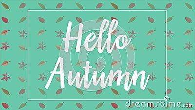 Autumn Backgrounds con l'animazione delle foglie royalty illustrazione gratis