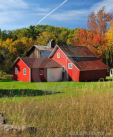 Free Autumn Barn In Michigan Sleeping Bear Dunes USA Stock Images - 22914084