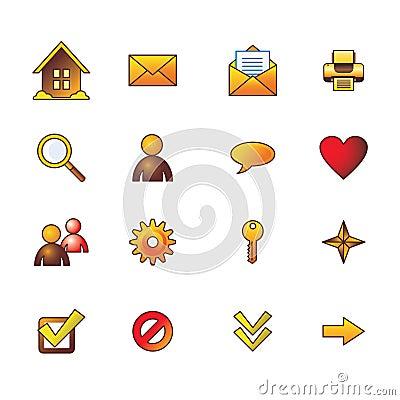 Autumn basic web icons set