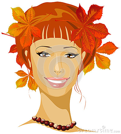 Autumn beautiful woman
