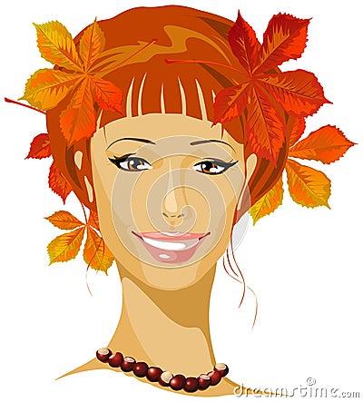 Autumn beautiful woman