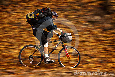 Autumn bike panning