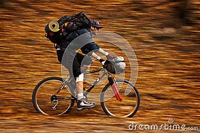 Autumn bike panning