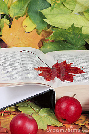 Autumn, the book, apples