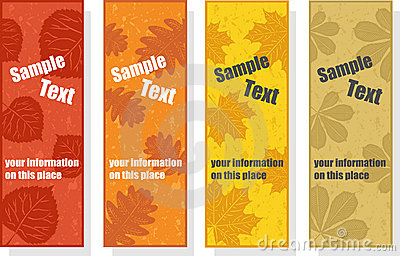 Autumn bookmarks for promotion