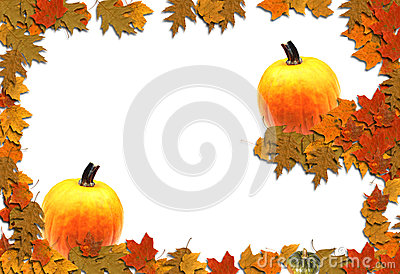 Autumn Border Seasonal Background