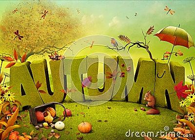 autumn Cartoon Illustration