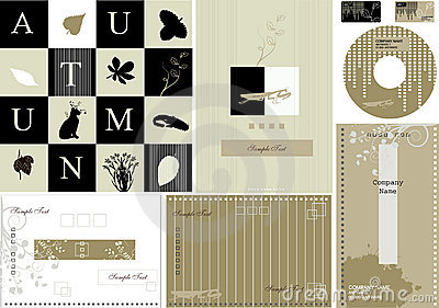 Autumn business card -