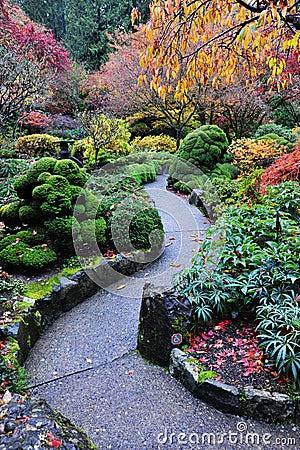Free Autumn Butchart Gardens Stock Images - 7262074