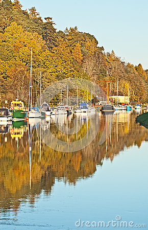 Autumn on Caledonian Canal Editorial Photography
