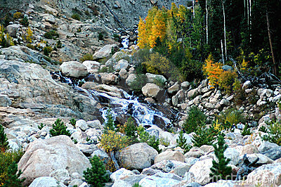 autumn waterfall in colorado