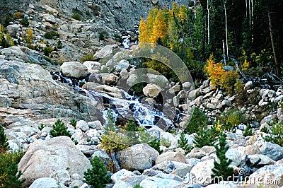autumn waterfall in colorado