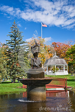 Autumn colors in a city park