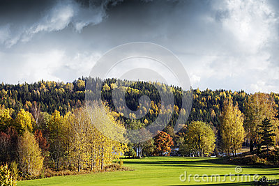 Autumn colors and landscape