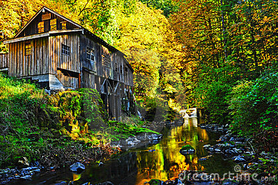 Autumn colors surround this old mill