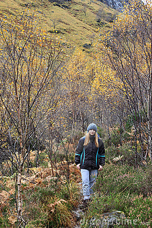 Autumn Colours and on path to Lost Valley Glencoe