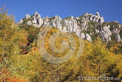 Autumn crag mountain