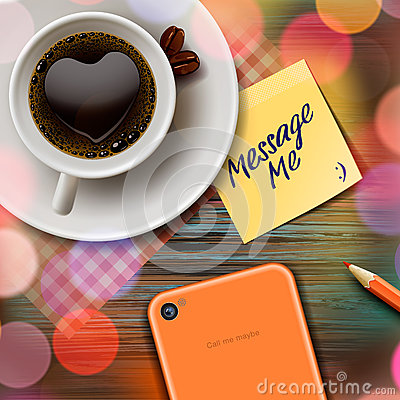 Free Autumn Cup Of Coffee, Tablet And Stick Note Royalty Free Stock Photo - 33570355