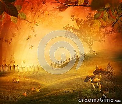 Autumn design - Mushroom valley