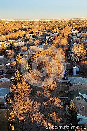 Autumn edmonton cityscape